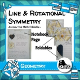 Line Symmetry and Rotational Symmetry interactive notebook
