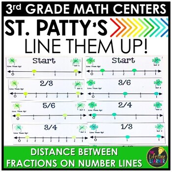 Fractions on Number Lines March Math Center