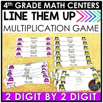 Line Them Up Multiplication Halloween Game