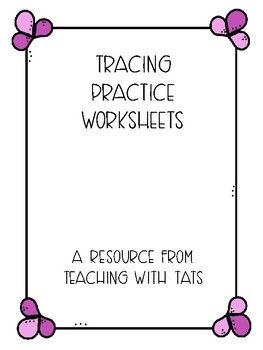 Line Tracing Practice Worksheets