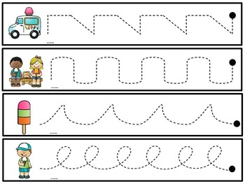 Line Tracing - Pre Writing Activities