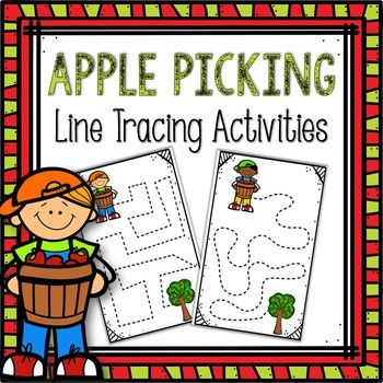 Line Tracing Task Cards-Apple Picking