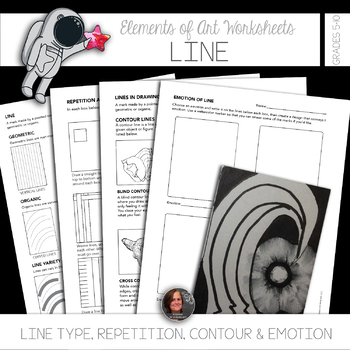 Elements of Art Worksheets & Mini Lessons - Element of Line
