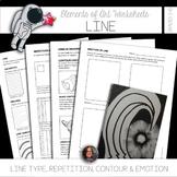 Element of Line Worksheets & Mini Lessons - Elements of Art Worksheets