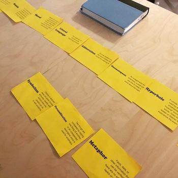 Line Up Activity - Figurative and Descriptive Language - Poetry Terms