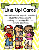 Line Up! Cards: Following Auditory Directions