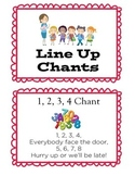 Line Up Chant Cards