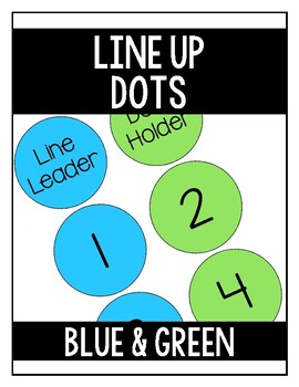 Line Up Dots - Blue & Green