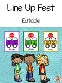 Line Up Feet - Editable