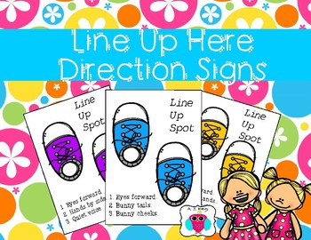Line Up Here Direction Signs