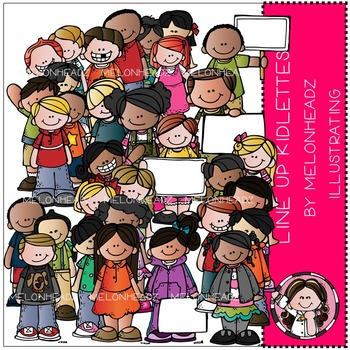 Line Up Kidlettes clip art - COMBO PACK- by Melonheadz