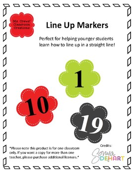 Line Up Markers