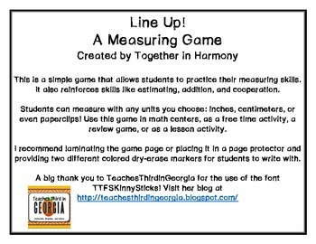 Line Up! Measurement Game