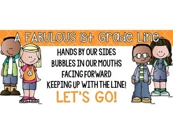 Line Up Posters for grades K-5