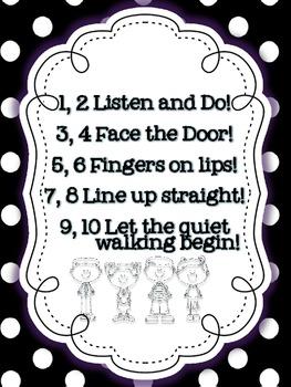 Line Up Rhyme {FREEBIE}