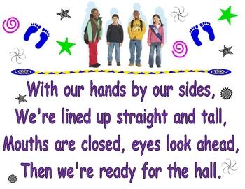 Line-Up Rhyme Poster (Proper Hallway Behavior)