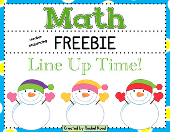 Line Up Time! - number identification and sequencing