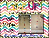 Line Up Vinyl Dots Set {1-20} PRIMARY Colors