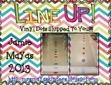 Line Up Vinyl Dots Set {1-25} Primary Colors