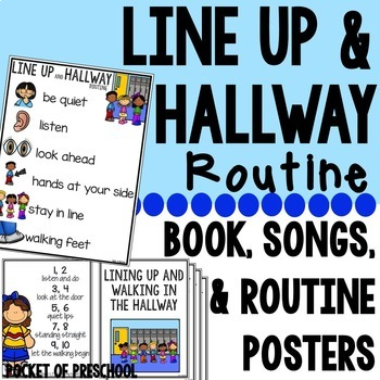 Line Up And Hallway Routine Posters Books Songs And