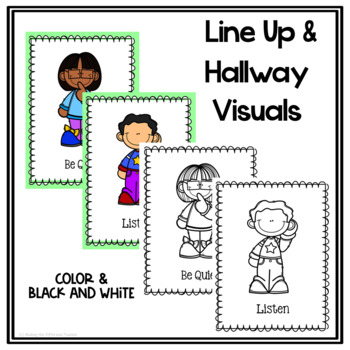 Line Up And Hallway Rules Routine Posters By Making The
