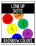 Line Up Dots- Rainbow Colors