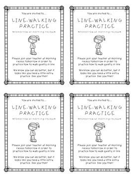 Line-Walking Practice FREEBIE!