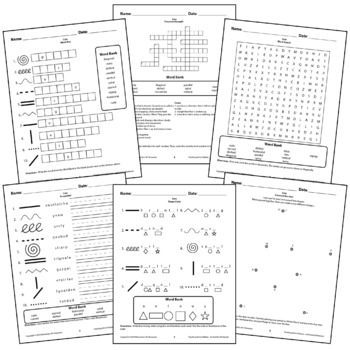 Line Worksheets Activity Crossword puzzle, Word Search, Ma