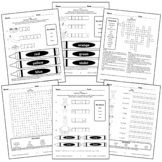 Color Worksheets Activity Crossword puzzle, Word Search, Matching Elementary Art