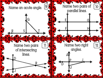 Line and Angle Practice Task Cards