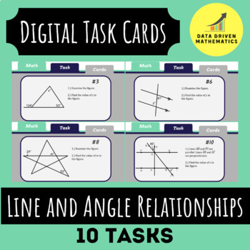 Line and Angle Relationships Digital Task Cards
