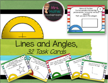 Line and Angles Task Cards