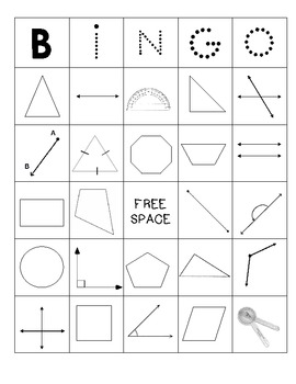 Line and Figure Geometry Bingo!