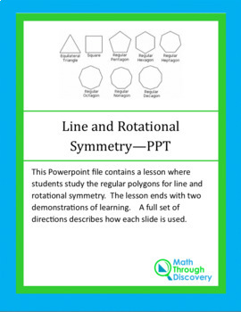 Line and Rotational Symmetries - PPT