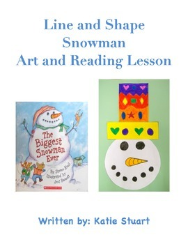 Line and Shape Snowman Art and Reading Lesson!
