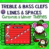Line and Space Notes for Christmas and Winter: Treble and