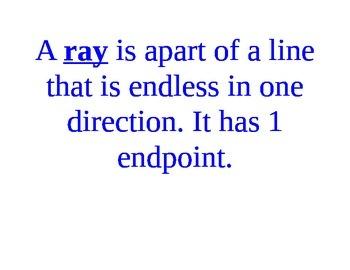 Line and line segments