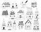 Line art home ,home Clipart set, instant download, PNG file - 300 dpi