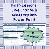 Line graphs & scatter plots - Power Point Presentation Lesson