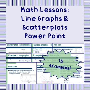 Line graphs & scatter plots - Power Point Presentation Lesson