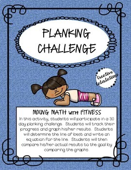 Math Activity - Line of Best Fit: Planking Challenge