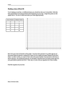 Name Date         ter Plots and Lines of Best Fit Worksheet together with  as well Line Of Best Fit Worksheet   Ivoiregion additionally Drawing Line Of Best Fit Worksheet ter Plots And Worksheets further Drawing Line Of Best Fit Worksheet   mboraky info together with  further 18 Best line of best fit images   Line of best fit  ter plot additionally Worksheet for analytical calition curve additionally Drawing Line Of Best Fit Worksheet New Line Best Fit Worksheet in addition Line of Best Fit Worksheet by Maria Oesterreich Allen   TpT in addition ter Plot Line Of Best Fit   Meningrey also worksheets  Creating ter Plots Worksheet Line Of Best Fit By together with ter Plot Correlation And Line Of Best Fit Exam Math By Plots likewise Make a ter plot together with Scatter Plots and Line of Best Fit Worksheet 2 by Alge Funsheets in addition ter Plot Correlation Worksheet   Free Printables Worksheet. on line of best fit worksheet