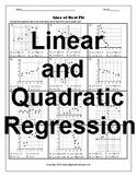 Line of Best Fit and Quadratic Regression (Bundle)