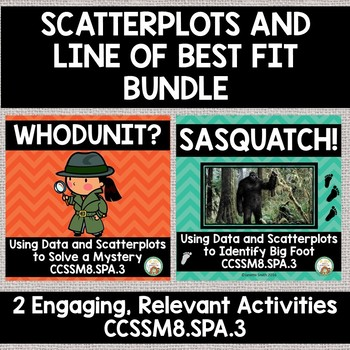 Line of Best Fit and Scatterplots:  The Bundle