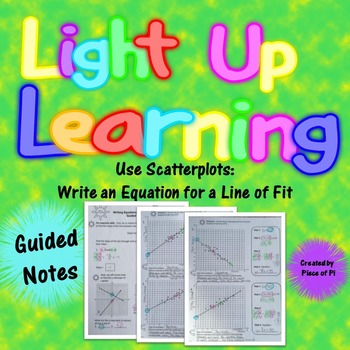 Line of Fit Scatterplot Guided Notes Bivariate Data 8.SP