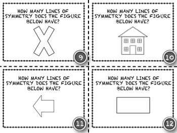 Line of Symmetry - 20 Common Core Aligned Middle Grades Task Cards