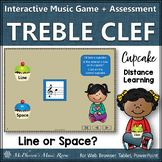 Treble Clef Line or Space? Interactive Music Game + Assessment {cupcakes}