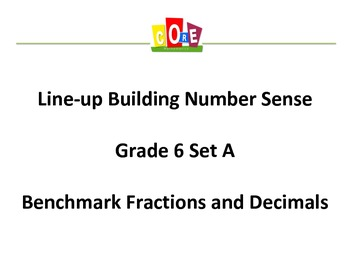 Common Core-Building Number Sense Grd 6 Card Set Benchmark Fractions & Decimals