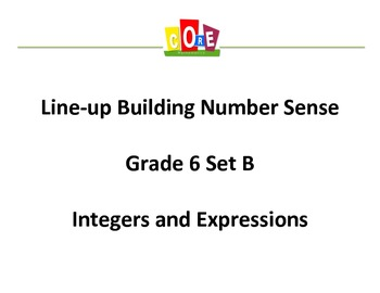 Common Core-Building Number Sense Grd 6 Card Set Integers and Expressions
