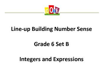 Common Core-Building Number Sense Grd 6 Card Set Integers